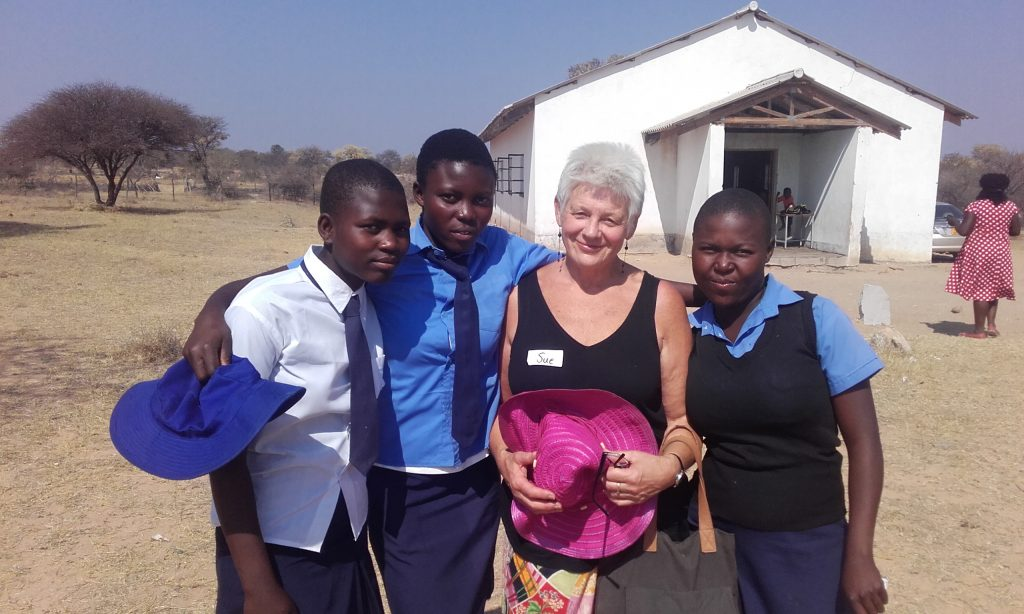 Sue with some of the peer educators