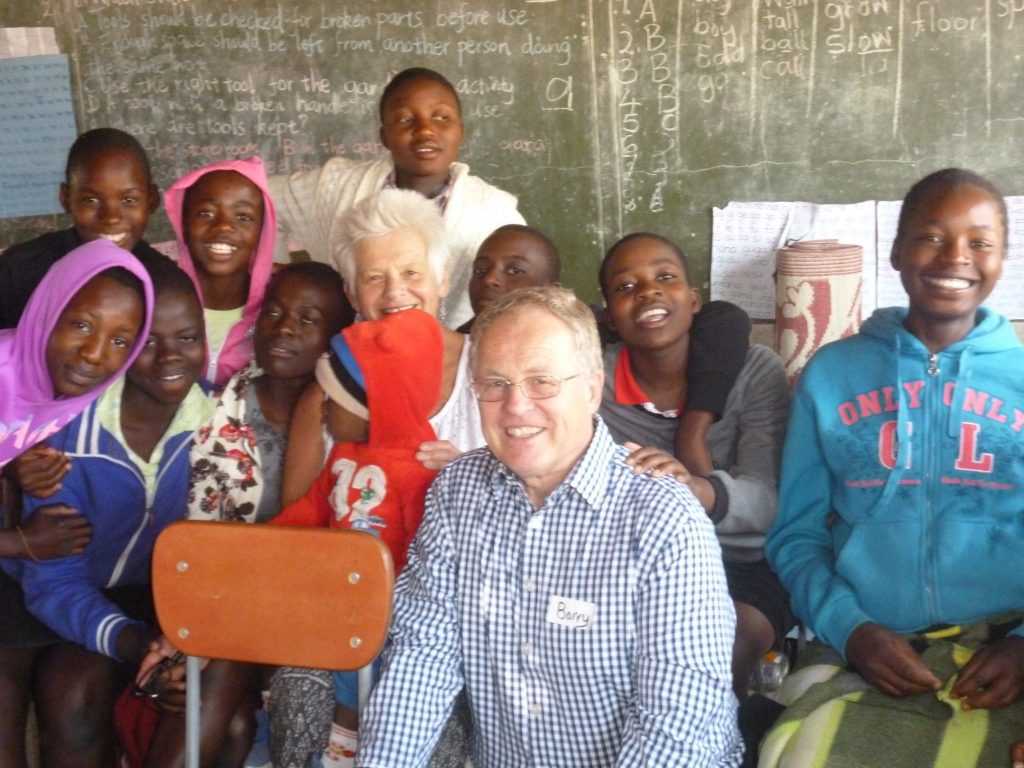 Barry with some of the peer educators